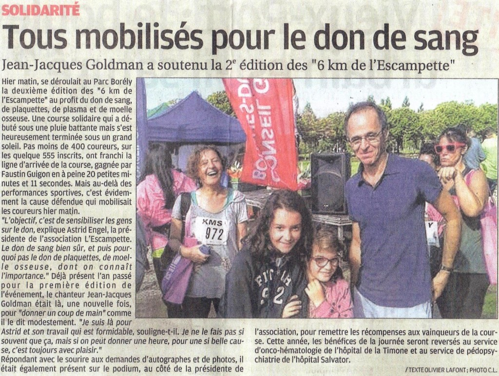 Article la provence Goldman